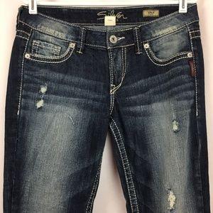 Silver Jeans Co LOLA FLARE Leg 30X31 Dark Wash EUC